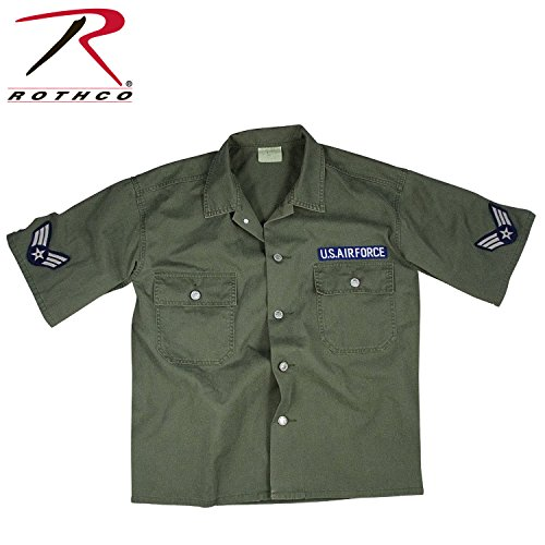 Rothco Vintage S/S BDU Air Force Shirt, Olive Drab, Large
