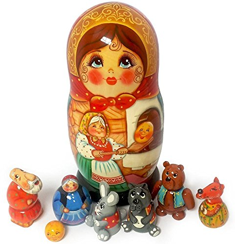 nesting-doll-and-animal-figurines-the-little-round-bun-the-gingerbread-man-fairytale-set-of-handmade