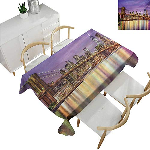 familytaste New York,Tablecovers Rectangular,NYC Exquisite Skyline Manhattan Broadway