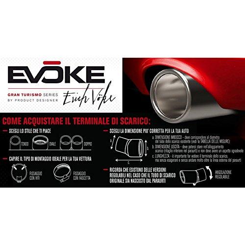 EVOKE Terminale Ovale per scarichi Ø46 67mm  Amazon.it  Auto e Moto c968a6ebd0