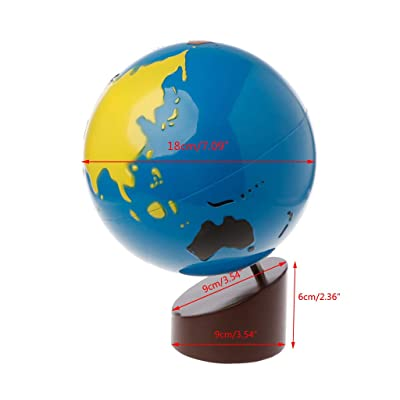 Aoaoingy Montessori Geography Material Globe of World Parts Kids Early Learning Toy: Toys & Games
