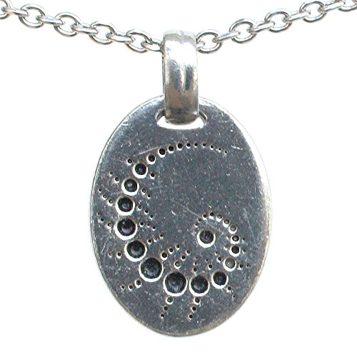 Crop Circle Formation Symbol ALIEN UFO Pewter Pendant Necklace Charm (Stainless Steel Chain) (Infinity Crop)