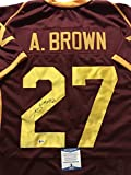 Autographed/Signed Antonio Brown Central Michigan Chippewas Maroon Football Jersey Beckett BAS COA