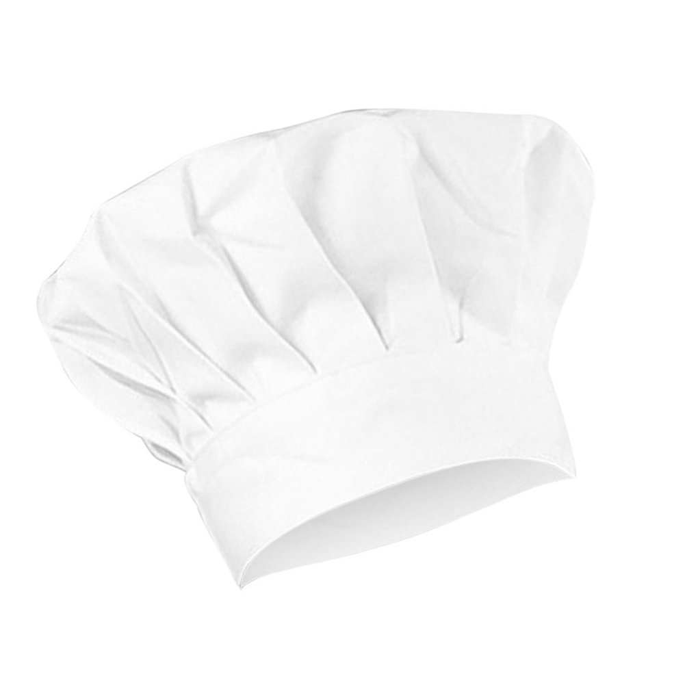 Outflower White Cotton Adjustable Chef Hat Unisex Chef Work Hat Baking Hat for Kids