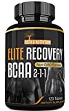 Powerful 4000mg Elite Recovery BCAA Capsules 2-1-1 Pre and Post Workout Branched Chain Amino Acids For Sale