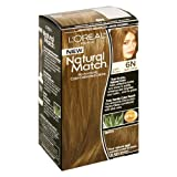 L'Oreal Natural Match No-Ammonia Color-Calibrated Creme, Light Brown, 6N Natural by L'Oreal Paris