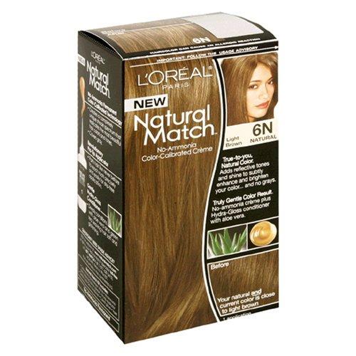 Couleur des cheveux Natural Match 6N Brun clair femmes