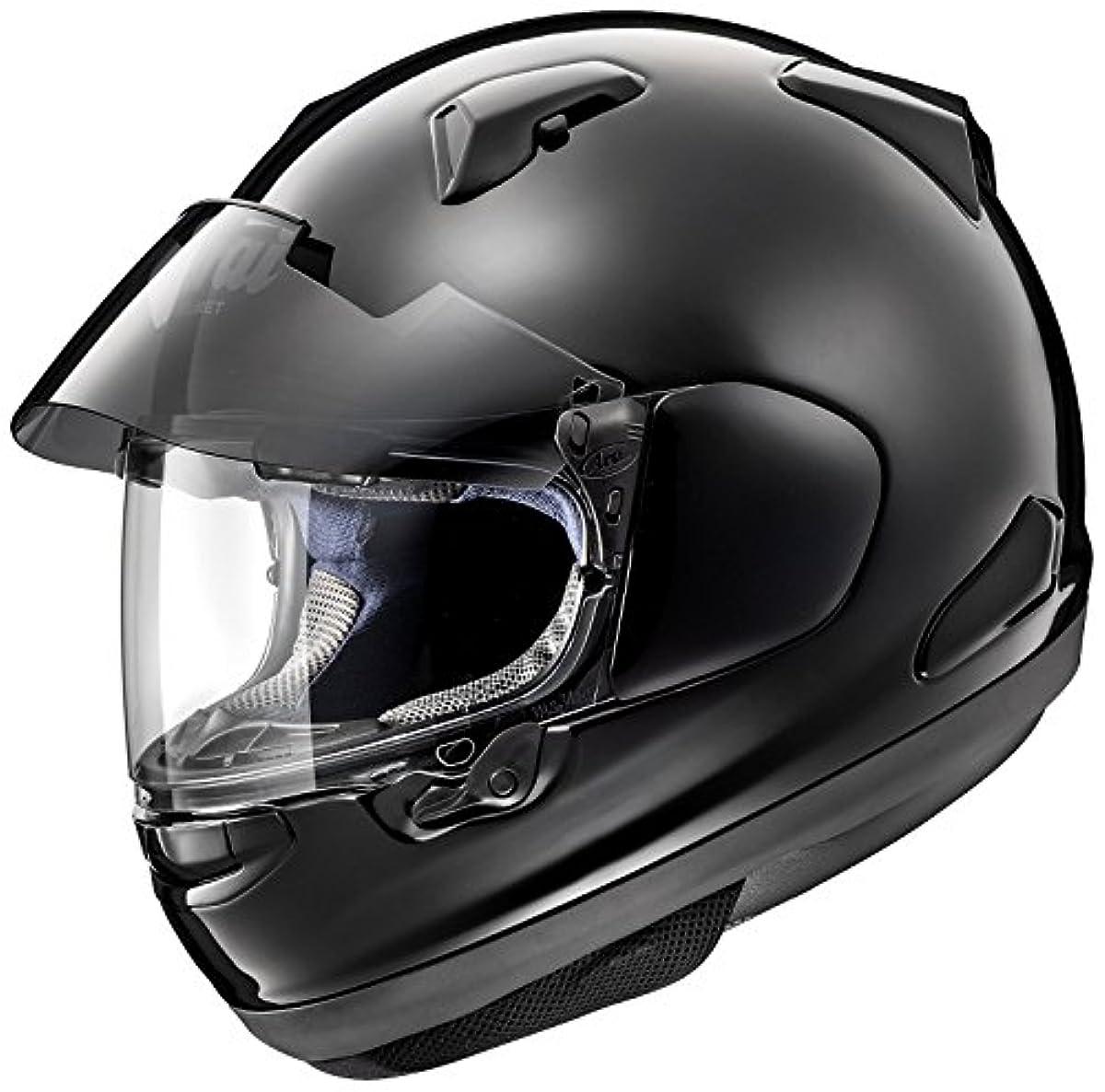 [해외] 아라이 (ARAI 아라이 헬멧) 풀 페이스 헬멧 아스 트럴-X 글래스 블랙 54CM (핀 그린 씨트120(클리어)부착) ASTRAL-X-GB54