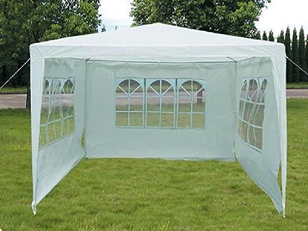 Viva Green - Tonnelle de jardin Sarah en polyester blanc - 3 x 3 m ...