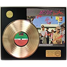 "ACDC DIRTY DEEDS DONE DIRT CHEAP GOLD LP LTD SIGNATURE RECORD DISPLAY ""C3"""
