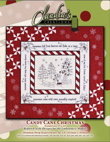 Candy Cane Christmas Quilt Pattern by Claudia's Creations, LLC