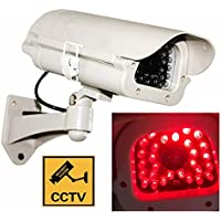 Dummy Fake LED CCTV Security Bullet Camera Outdoor Indoor Waterproof Surveillance Simulated Cameras W/ illuminating LEDs