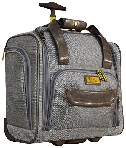 "Nicole Miller Luggage 15"" Under Seat Bag (Jardin Grey) from Nicole Miller"