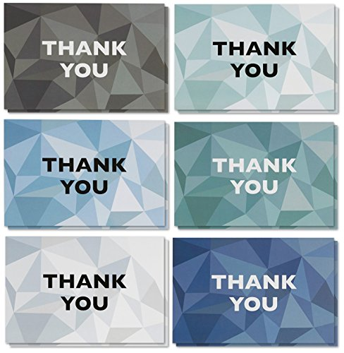 Thank You Cards - 48-Count Thank You Notes, Bulk Thank You Cards Set - Blank on the Inside, 6 Stained Glass Pattern Designs – Includes Thank You Cards and Envelopes, 4 x 6 Inches by Best Paper Greetings