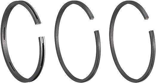 Sourcingmap Repuestos anillos de pist/ón de di/ámetro 51 mm compresor de aire set 3 piezas