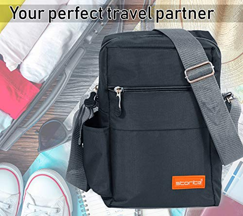 Storite Stylish Nylon Sling Cross Body Travel Office Business Messenger one Side Shoulder Bag for Men Women (25x16x7.5cm) (Dark Grey) 10