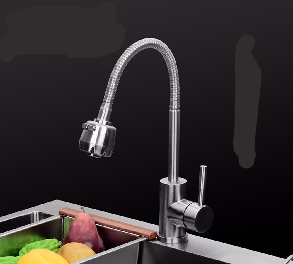10 Hlluya Professional Sink Mixer Tap Kitchen Faucet Stainless Steel, hot and cold, washing your face, bent, deformed, redation, Kitchen Sinks Faucets, 9