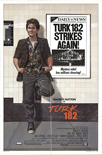 Turk 182 1985 Authentic 27  X 41  Original Movie Poster Fine  Very Fine Robert Culp Drama U S  One Sheet