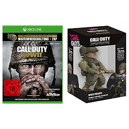 Call of Duty: WWII - Standard Edition - [Xbox One] + Cable Guy Ronald Red Daniels