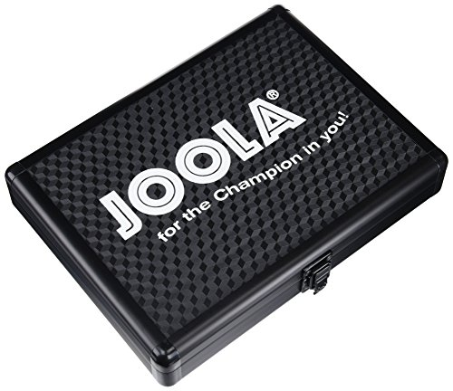 JOOLA Aluminum Table Tennis Racket Case with Ball Storage (Black) by JOOLA (Image #1)