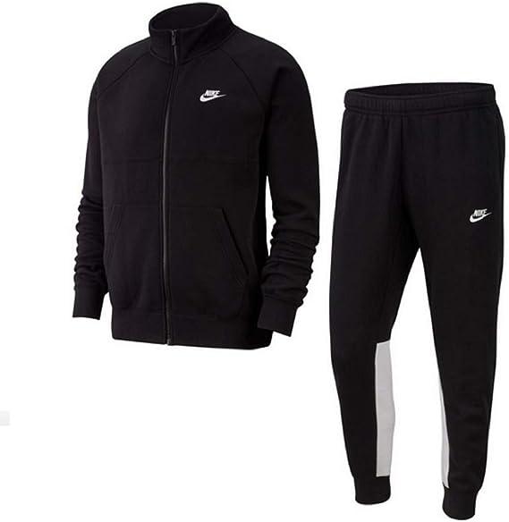 Nike CE - Chándal deportivo para hombre, de forro polar blanco/negro L: Amazon.es: Ropa y accesorios