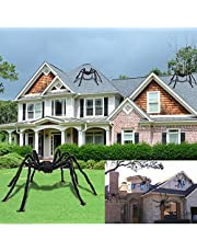 Giant Halloween Spider, Scary Halloween Yard Decorations Large Fake Hairy Spider Furry Spider Props Outside Lawn Yard Creepy Decor, Indoor Outdoor Halloween Decorations