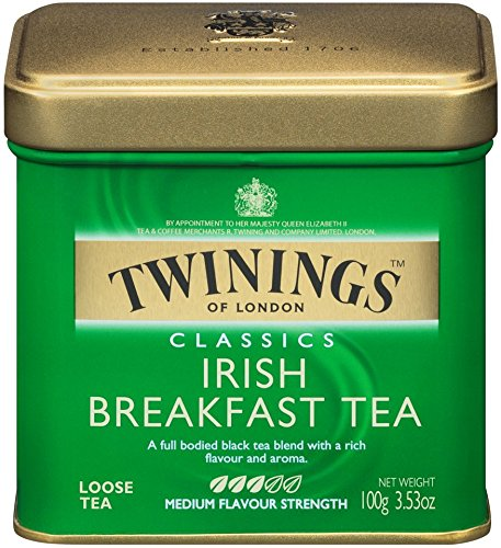 Twinings Irish Breakfast Tea, Loose Tea, 3.53 -Ounce Tins (Pack of 6) Irish Breakfast Tea