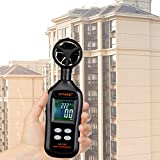 UYIGAO Digital Anemometer Handheld Wind Speed Meter Measuring Air Flow Velocity with Backlight and Max/Min for Windsurfing Kite Flying Sailing Surfing Fishing