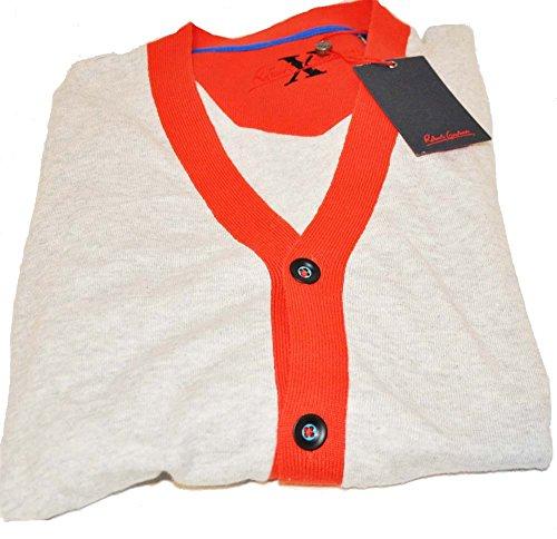 robert-graham-mens-size-large-light-gray-wool-cardigan-sweater