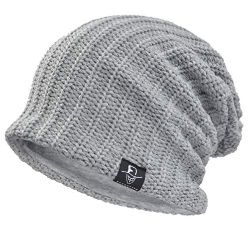 d8b69207e5aa1a Ruphedy Men Slouch Beanie - Oversized Winter Knit Skull Cap Long Baggy  Stretchy Ski Hat N010