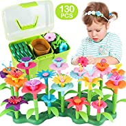 CENOVE Girls Toys Age 3-6 Year Old Toddler Toys for Girls Gifts Flower Garden Building Toy Educational Stem To