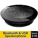 Jabra Speak 510 Wireless Bluetooth Speaker for Softphone/Mobile Phone, Easy Setup, Portable Speaker,Outstanding Sound Quality