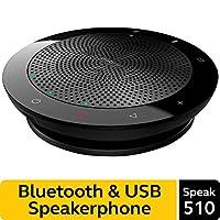 Altavoz Bluetooth inalámbrico Jabra Speak 510 para Softphone y teléfono móvil: configuración sencilla, altavoz portátil para celebrar reuniones en cualquier lugar con una calidad de sonido excepcional