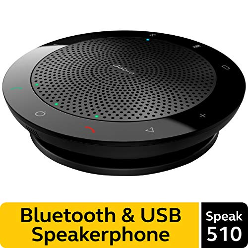 Jabra Speak 510 Wireless Bluetooth Speaker for Softphone and Mobile Phone – Easy Setup, Portable Speaker for Holding Meetings Anywhere with Outstanding Sound Quality