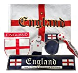 England Soccer Football Team 6 Piece Cars Supporters Flags & Accessories