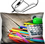 MSD Mouse Wrist Rest Office Decor Wrist Supporter Pillow design: 30871720 School tools On a wooden background