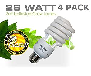 SunBlaster 26 Watt CFL Grow Lamp 4 pack