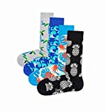 Happy Socks Men's Combed Cotton Socks, Pack of 4 (Tropic, 10-13)