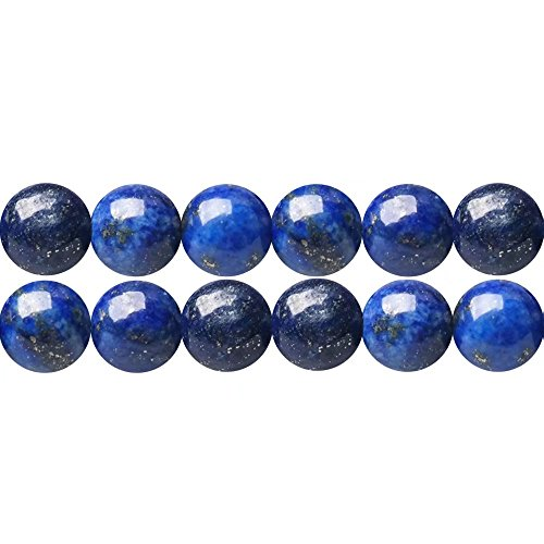 - Dyed Lapis Lazuli Blue Semi Precious Stone Round 10mm Spacer Beads to Make DIY Necklace Bracelet Earrings Sold by One Strand 15 Inch Apx 35 Pcs
