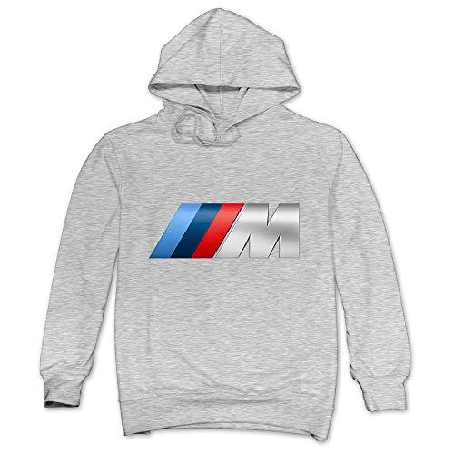 (ITMEIAL Men's BMW M Logo Fleece Hoodie Ash M)