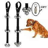 2ndEars Pet supplies 2pcs Dog Doorbells for Dog Training and Housebreaking, 7 Premium Extra Large Loud Doorbells Adjustable Door Bell Length