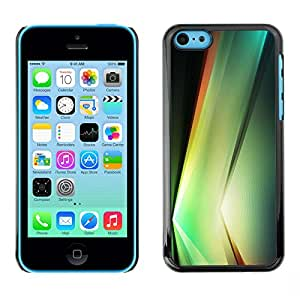 X-ray Impreso colorido protector duro espalda Funda piel de Shell para Apple iPhone 5C - Plant Vibrant Black Shapes Nature