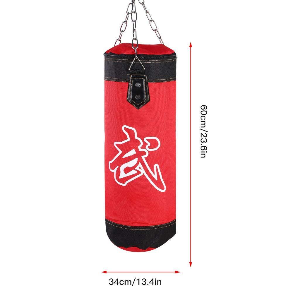 Training Sandbag 7+1 Empty Training Boxing Power Bag Hook Kick Sandbag Fight Weight Karate Punch Punching Sand Bag Gloves Fitness