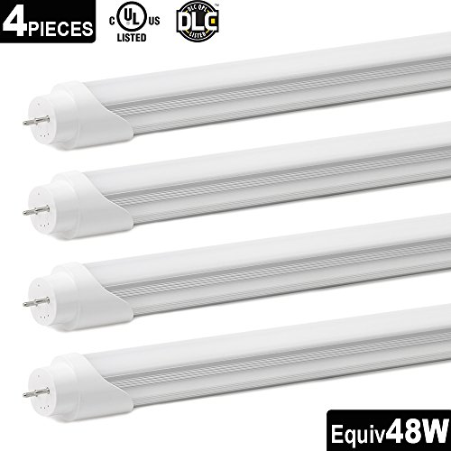 Otronics T8 LED Tube Light ,4ft 22W (48W equivalent) 2290Lumens, Daylight White 5000K,G13 Lighting Fixtures, Single-Ended Power Frosted Cover, UL-Listed & DLC-Qualified,pack of 4