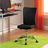 Desk Chair Multiple Colors Sturdy chrome base and adjustable seat height Breathable material Supportive padded mesh seat for extra comfort Ideal for home or office use and available in assorted colors
