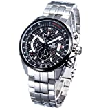 Casio Men's Edifice Efr501sp-1av Silver Stainless-steel Quartz Watch with Black Dial, Watch Central