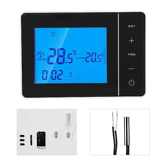 Alinory Termostato inalámbrico programable Pantalla LCD Digital ...