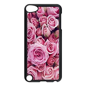 Personalized Red Rose Ipod Touch 5 Phone Case, Red Rose Custom Durable Back Phone Case for iPod Touch5 at Lzzcase