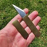 Japanese Brass Pocket Knife (Kiridashi) for Right
