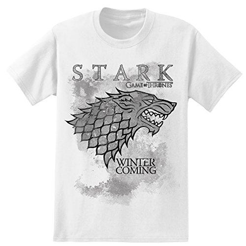 Stark Park (HBO'S Game of Thrones Men's Winter Is Coming Stark T-Shirt - Bright White (Large))